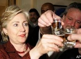 Here's to you Hillary!  Everyone loves you now!
